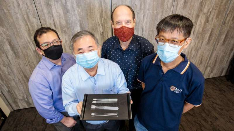 NUS researchers develop novel COVID-19 swabs to address global and local shortage