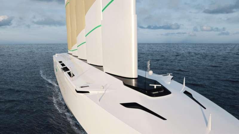 Oceanbird cargo ship relies on wind to transport autos