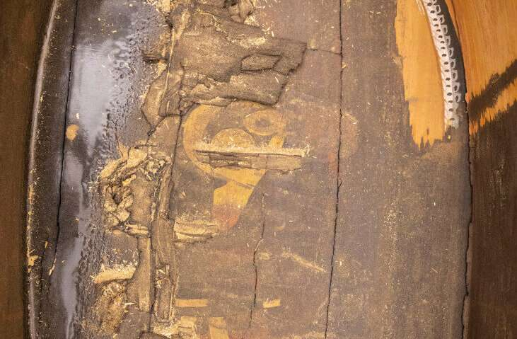 Painting of deity found inside 3,000-year-old coffin