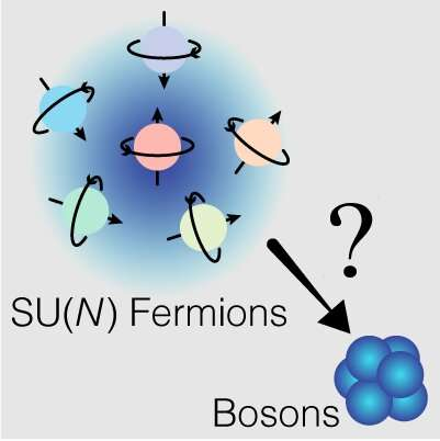 Physicists quantum simulate a system in which fermions with multiple flavors behave like bosons