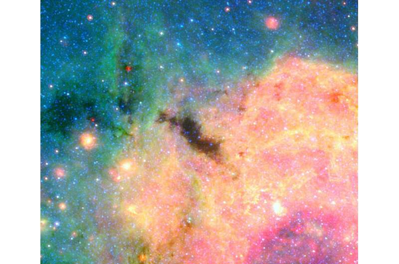 Piercing the dark birthplaces of massive stars with Webb