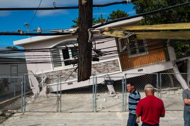 Puerto Rico has been shaken by a series of strong earthquakes since December 28. This house was damaged by one that struck on Ja