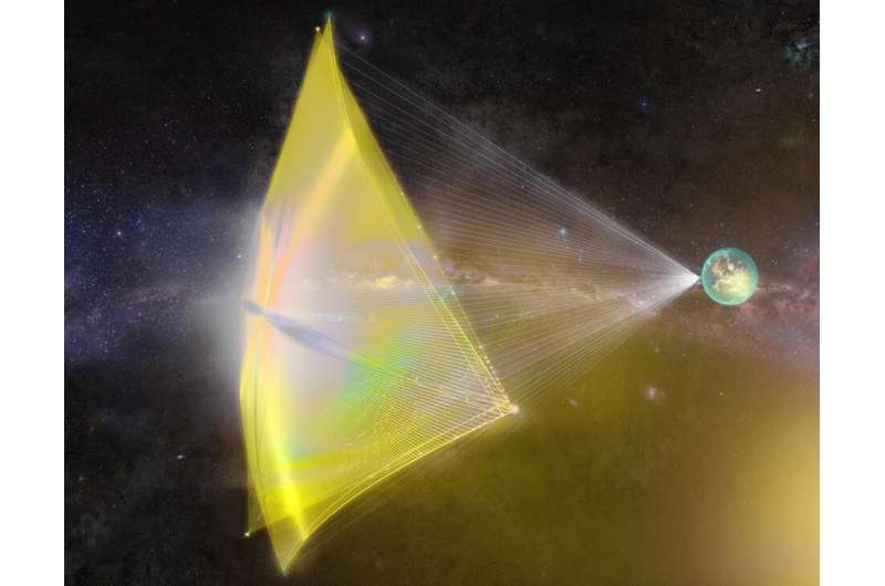 Riding the wave of a supernova to go interstellar