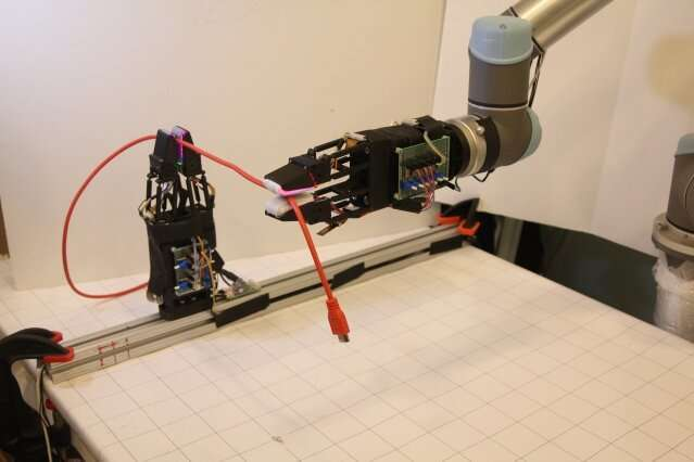 Robotic gripper with soft sensitive fingers can handle cables with unprecedented dexterity