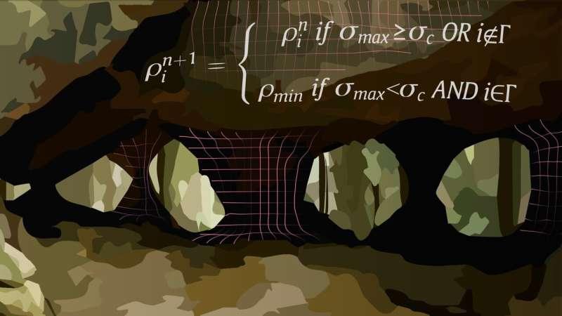 Scientists model natural rock arcades