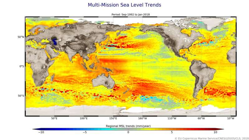 Sea-level charting satellite passes with flying colours
