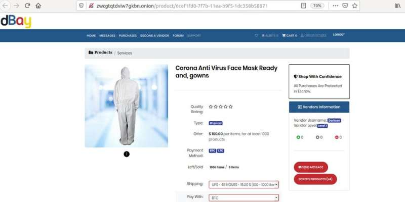 Sketchy darknet websites are taking advantage of the COVID-19 pandemic – buyer beware
