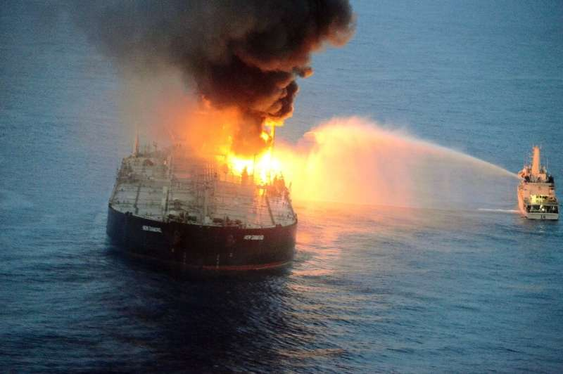 The Panamanian-registered New Diamond was carrying 270,000 tonnes of crude from Kuwait to India when the engine room exploded on
