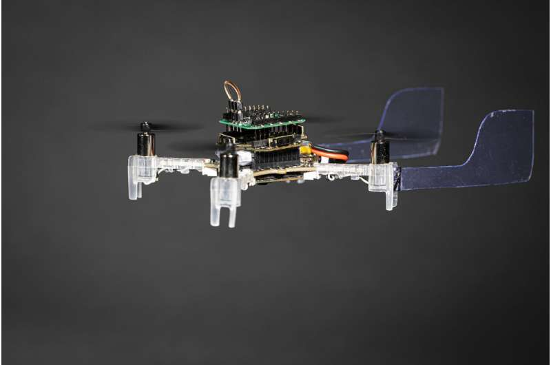 """The Smellicopter,"" an obstacle-avoiding drone that uses a live moth antenna to seek out smells"