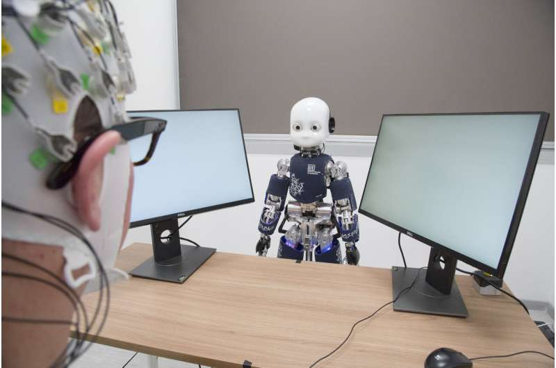 What is your attitude towards a humanoid robot? Your brain activity can tell us!