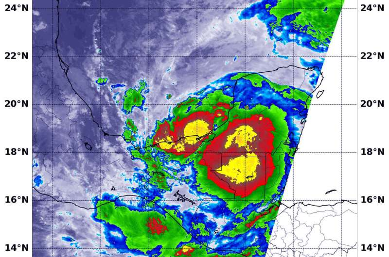 NASA finds heavy rainfall in Tropical Storm Cristobal