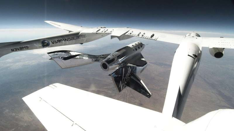 Virgin Galactic marks second glide flight over New Mexico