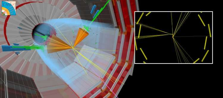 Machine-learning technology to track odd events among LHC data
