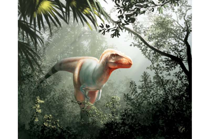 Researchers said Thanatotheristes degrootorum was around eight metres long and hunted around 80 million years ago