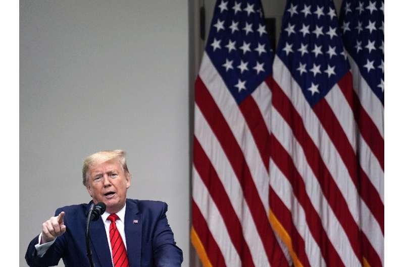 US President Donald Trump accuses China of hiding the origins of the coronavirus outbreak