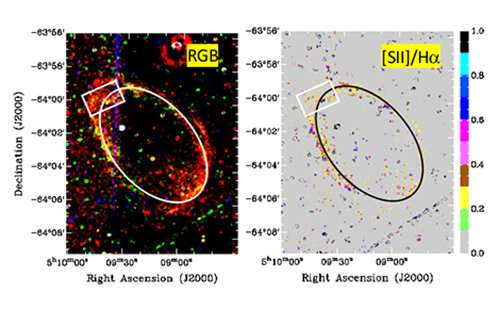 120,000-year-old supernova remnants detected in neighbouring galaxy