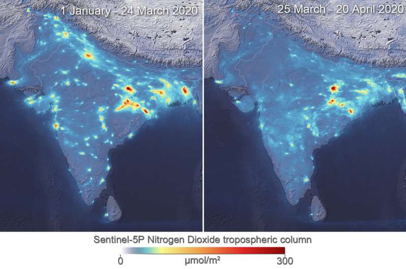 Air pollution drops in India following lockdown