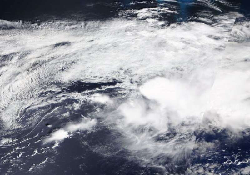 NASA satellite catches the end of Post-tropical Storm Kyle