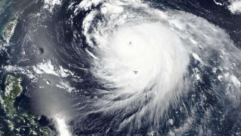 NASA satellite finds Haishen now a super typhoon