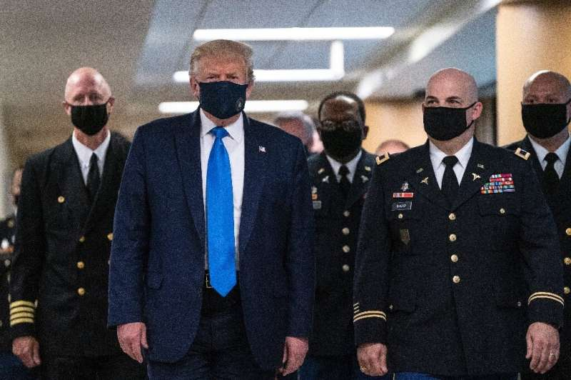 US President Donald Trump says he believes masks 'have a time and a place'