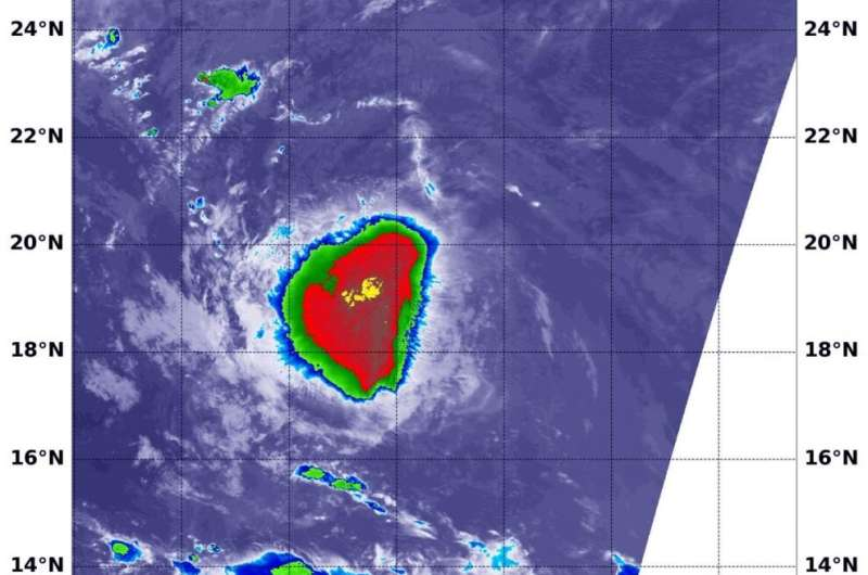 NASA satellite finds an elongated Tropical Storm Rene caused by wind shear