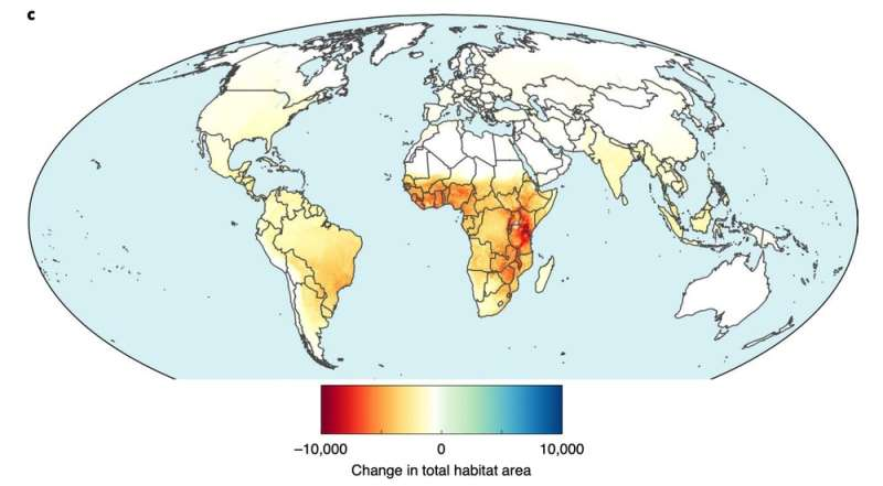 Almost 90% of the world's animal species will lose some habitat to agriculture by 2050