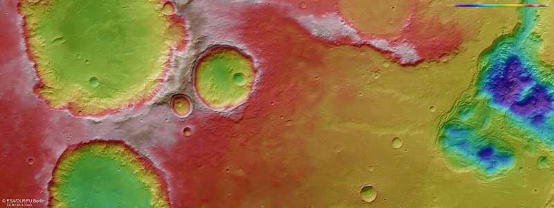 Creating chaos: Craters and collapse on Mars