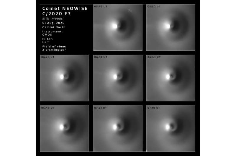 Gemini Observatory images reveal striking details of NEOWISE