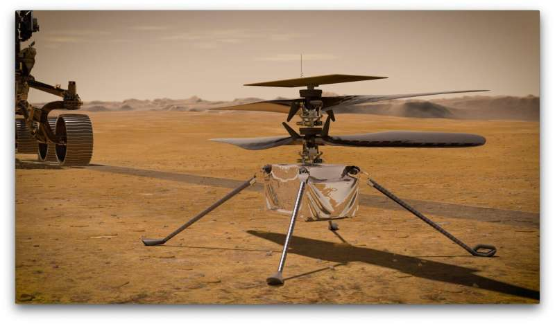 Ingenuity Mars helicopter recharges its batteries in flight