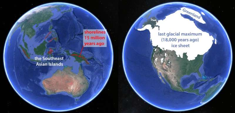 Island-building in Southeast Asia created Earth's northern ice sheets