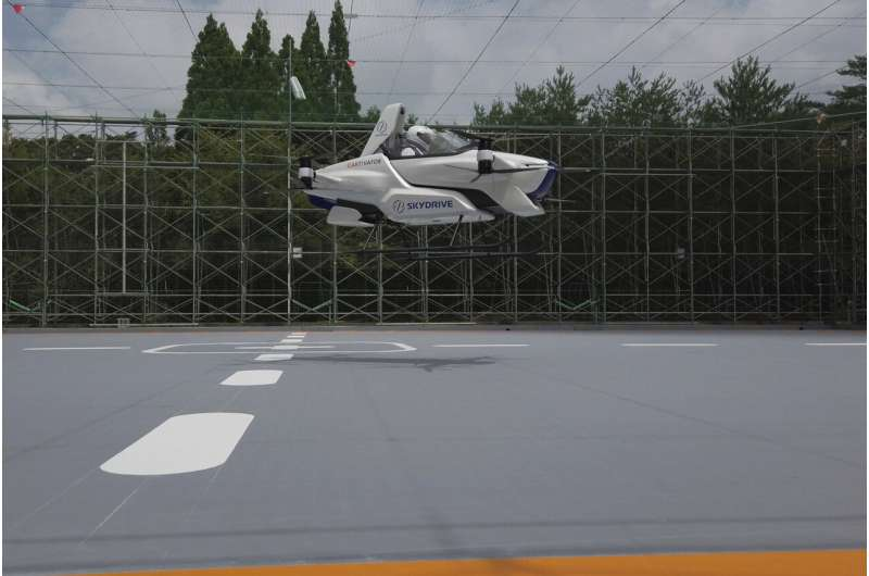 Japan's 'flying car' gets off ground, with a person aboard