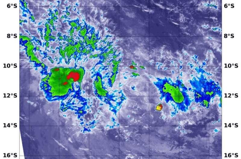 NASA examines tropical storm Mangga in infrared light