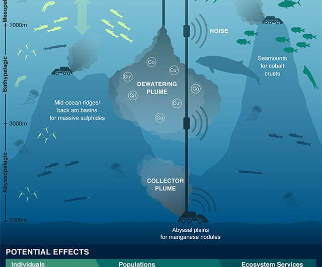 Scientists urge caution, further assessment of ecological impacts above deep-sea mining