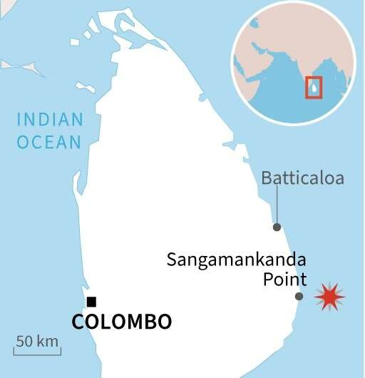 Sri Lanka burning tanker