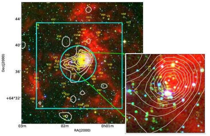 Study investigates over 70 variable stars in the Sh 2-170 star-forming region
