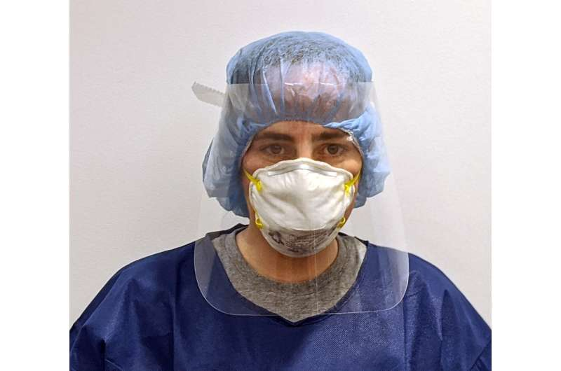 UMass Amherst engineers, nurses design low-cost face shield PPE for health care