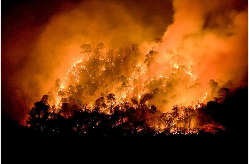 2017 San Diego wildfire increased pediatric ER visits for breathing problems
