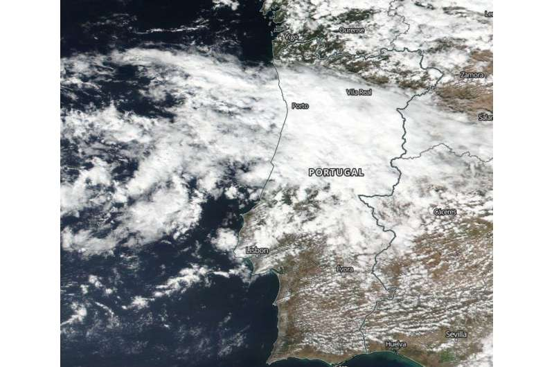 NASA satellite found Post-Tropical Storm Alpha fizzle over Portugal and Spain