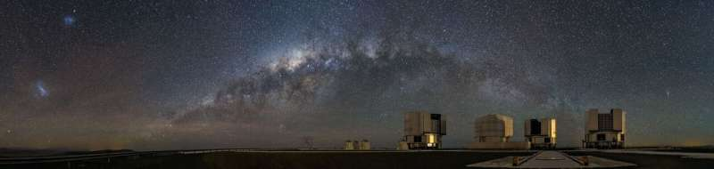 Research team observes hot dust rings around stars in a new wavelength range
