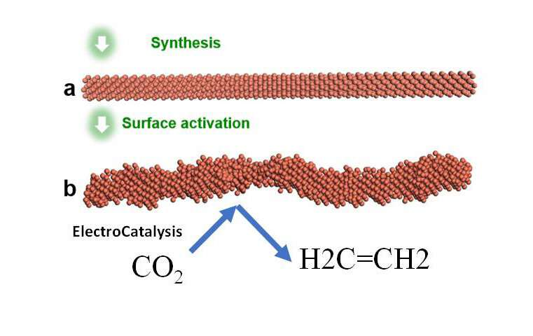 Researchers discover effective pathway to convert CO2 into ethylene
