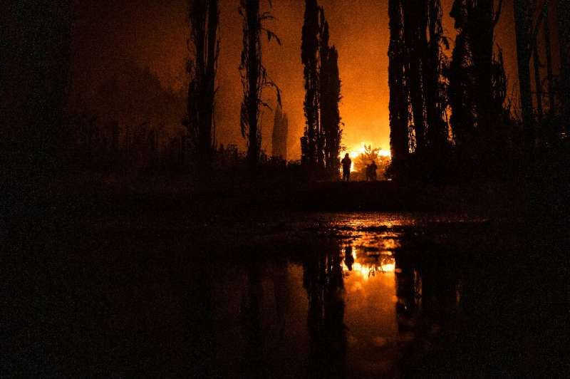 US President Donald Trump recently suggested that wildfires like this one engulfing the Chateau Boswell Winery in Napa Valley, C