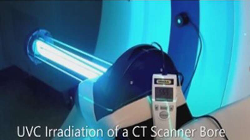 Scientists use ultraviolet light to disinfect CT scanners