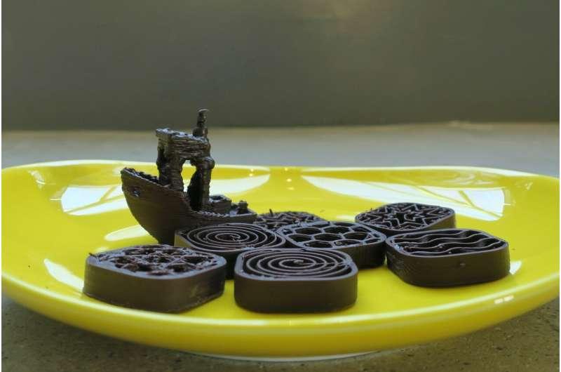 3-D printing chocolate