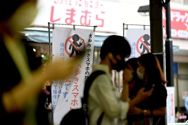 Authorities in Yamato want to highlight the dangers of scrolling while strolling