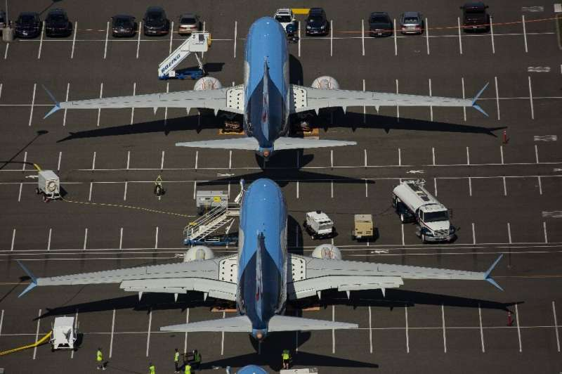 Boeing reported no new plane orders in January and a drop in jet deliveries as the protracted grounding of the 737 MAX continued