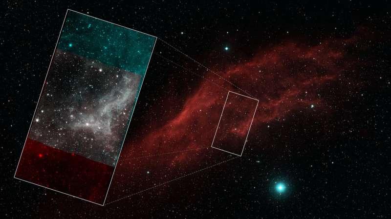 California nebula stars in final mosaic by NASA's Spitzer