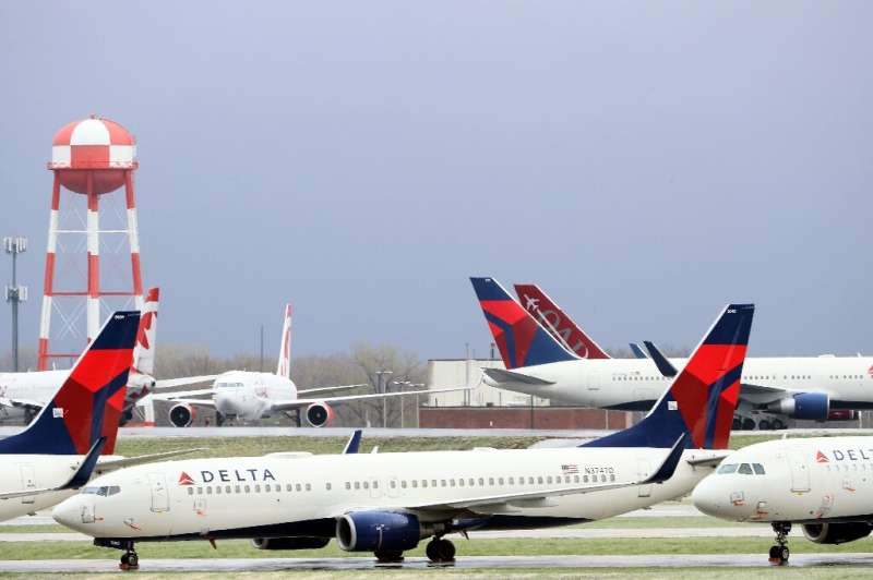 Delta Air Lines said it was will reduce hours for some employees as it projected a stunning 90 percent drop in second-quarter re