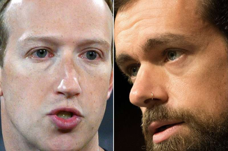 Facebook founder Mark Zuckerberg and Twitter CEO Jack Dorsey were set to testify before US lawmakers for the second time in a le