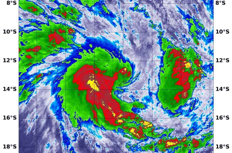 NASA finds heavy rain potential in new Tropical Cyclone Irondro