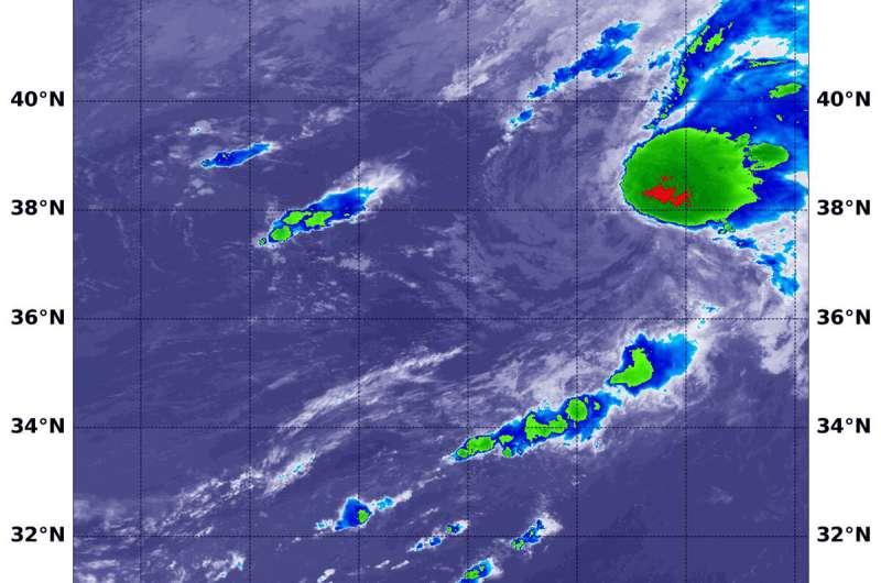 NASA finds wind shear battering tropical storm Edouard
